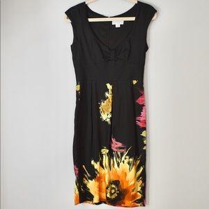 Jessica Simpson Cotton Silk Sheath Dress Blk Sz 2